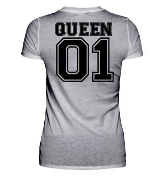 Queen 01 Partnershirt Couple Shirt Love Partner partnerlook Gift Birthday Christmas Geschenk