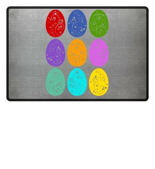 ★ Nine Boho Ornaments Easter Eggs 9