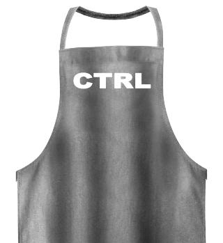 PC Tastenbezeichnung CTRL - white