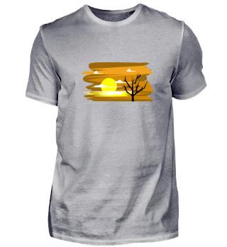 Nature Sun Tree Africa Savanna Gift Idea