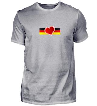 Deutschland Love. Herzform
