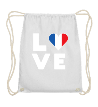 I love LOVE France Flag Flag Heart