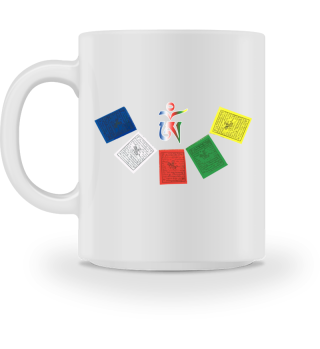 ♥ Tibetan OM Prayer Flags Tasse
