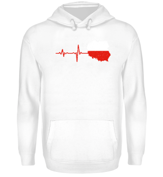 Heartbeat Poland silhouette gift