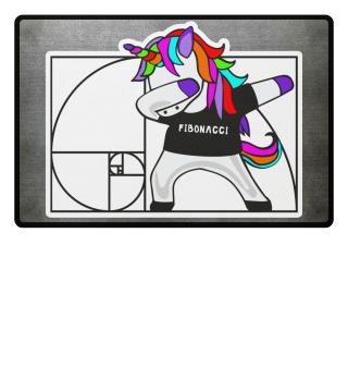 Dabbing Unicorn - Fibonacci Math Dab 2a
