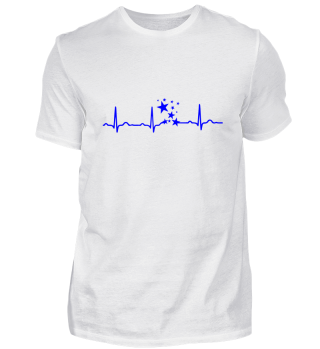 GIFT-ECG HEARTLINE STARS BLUE