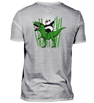 Panda auf Dinosaurier Geschenk