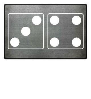 Würfel Punkte 3 + 4 - weiss