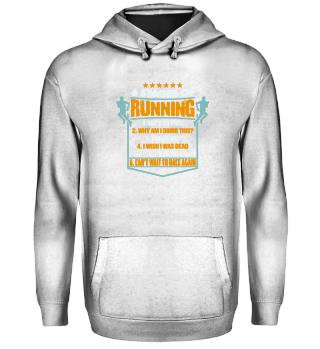Running Marathon T Shirt Geschenk