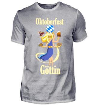 Oktoberfest Göttin T-Shirt Wiesen Lustig