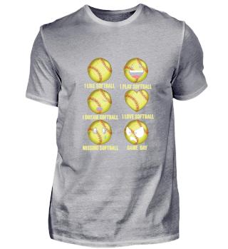 Lustiges Softball Shirt