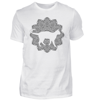 ♥ Vintage Mandala I Cat I - black