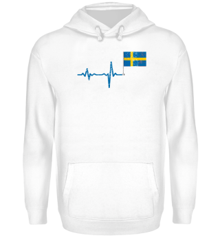 Heartbeat Sweden flag gift