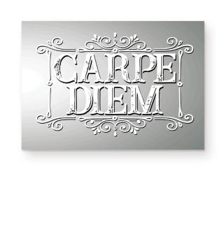 CARPE DIEM - vintage frame white Poster