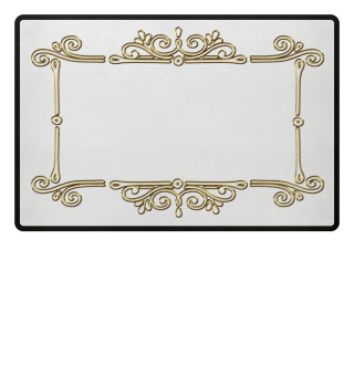 Vintage Ornaments Frame - gold outline