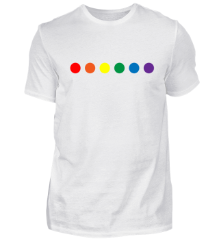 LGBT shirt - dots rainbow colours