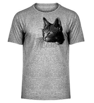 Beautiful CAT MEOW HEAD - black