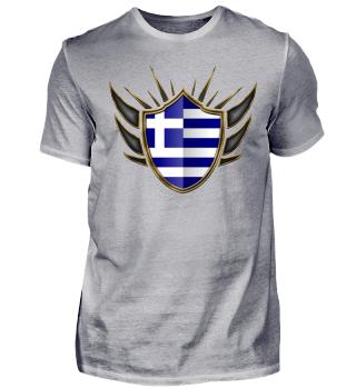 Griechenland-Greece Wappen Flagge 014