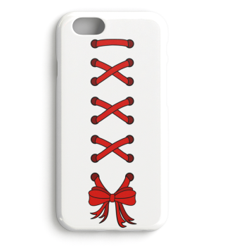 Cross Lacing Ribbon - red case