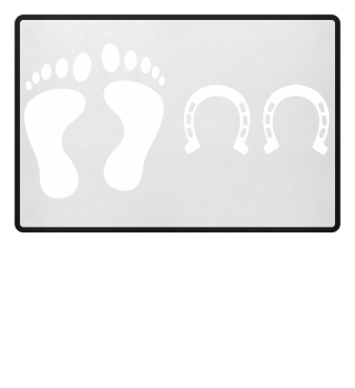 Reiten | Fußmatte Fuß und Huf