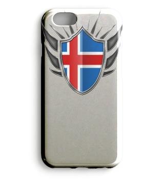 Island-Iceland Wappen Flagge 013