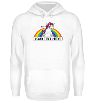 ♥ Dabbing Rainbow Unicorn - Your Text 1