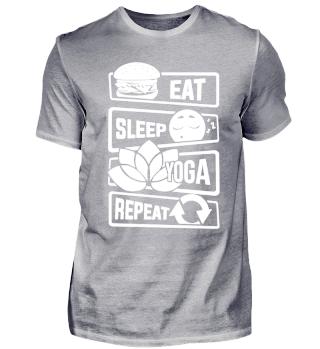 Eat Sleep Yoga Repeat - Namaste Yogi