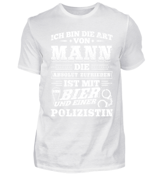 Polizist Polizei Shirt Ich Bin Die Art