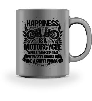 Happiness: Motorcycle, Roads, Girl - Gift