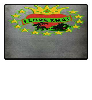 ★ I love Xmas Santa Claus Reindeer