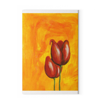 Spachtelarbeit Malerei Tulpen No.01