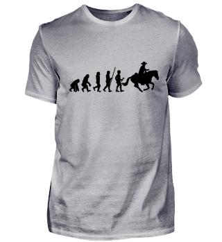 Evolution zum Cowboy - T-Shirt