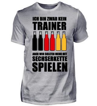 Deutschland Sechserkette Fussball Shirt