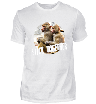Stick Together - Two young baboons
