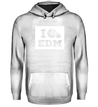 I love EDM. white