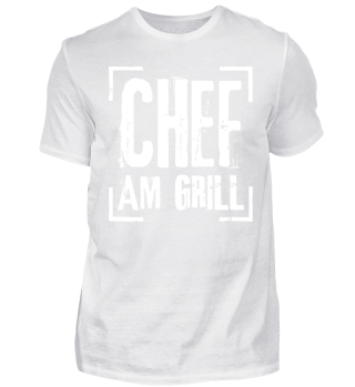 Chef Am Grill - weiss