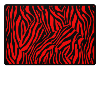 ♥ Zebra Stripes Art Black Red