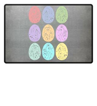 ★ Nine Boho Ornaments Easter Eggs 11