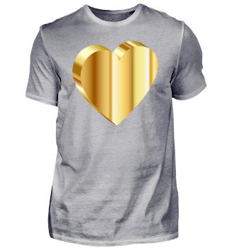 Herz Gold Du bist mein Be Mine