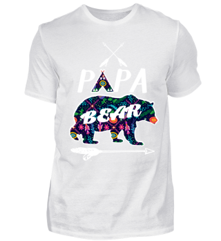 Papa Bear Shirt Textured Family Camping