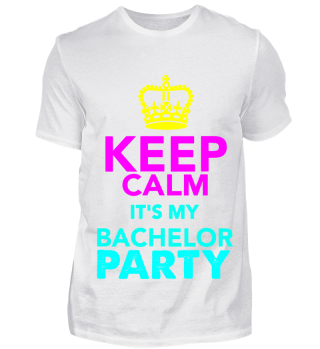 GIFT- KEEP CALM BACHELOR PARTY PINK