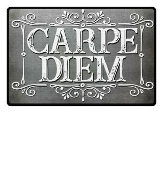 CARPE DIEM - vintage frame Fußmatte 6