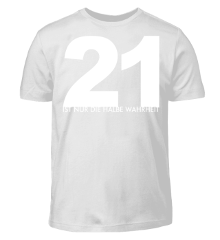 21 halbe Wahrheit - weiss