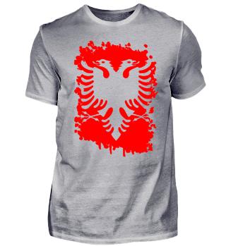 albanische T-Shirt mit doppelkopf Adler Geschenk für Albaner