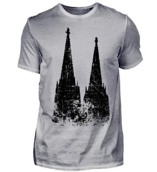 Kölner Dom Vintage Schwarz Köln Design