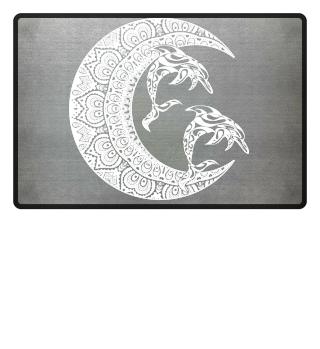 ★ Mandala Half Moon - Dolphins Tattoo 2