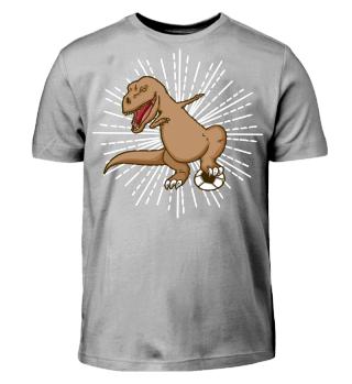dino Fussball dab shirt geschenk
