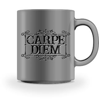 CARPE DIEM - vintage frame black T-Shirt
