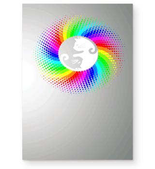 Yin Yang Rainbow Cats Gift