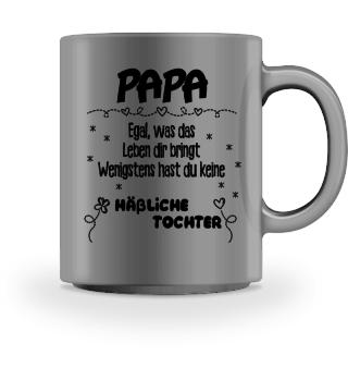 Tasse mit Spruch Papa Geschenk Tochter